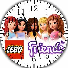 """Lego Friends wall Clock 10"""" will be nice Gift and Room wall Decor Z186"""