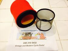 Replacement KDX250 KDX 250  Uni Air Filter AND cage 1980 NEW!