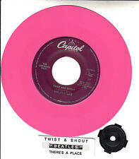 "BEATLES  Twist And Shout & There's A Place  PINK VINYL 7"" 45 rpm record NEW"