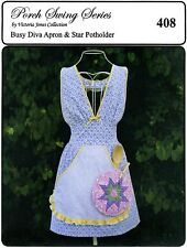 Busy Diva Apron & Star Potholder Sewing Pattern - Victoria Jones Collection 408