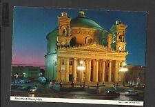 John Hinde Colour Postcard  Mosta Parish Church Malta Unposted