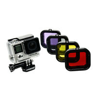 Underwater Diving Lens Converter Set Snap-on Filter For Gopro 4 3+ Housing Case