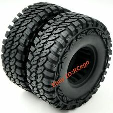 2pcs RC 1.9 Crawler Gomme 115mm Fit 1:10 RC 4x4 ASSIALE TAMIYA 1.9 LEGA RUOTE