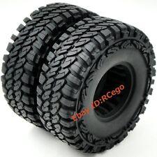 2pcs RC 1.9 Crawler Tires 115mm Fit 1:10 RC 4WD Axial Tamiya 1.9 Beadlock wheels