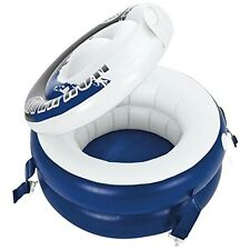 Inflatable Floating Drink Cooler Float Tube Pool Water Raft River Run Lid Lounge