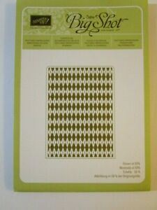 Stampin' Up Textured Impressions Embossing Folder Argyle 127750 sizzix