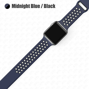 Silicone Band Strap Apple Watch Nike+ Sport Series 6 5 4 3 2 1 SE 38/40/42/44mm