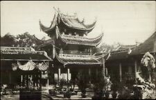 Singapore - Chinese Temple c1920 Real Photo Postcard