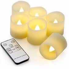 6 LED Kerzen mit Fernbedienung flammenlose Teelichter  Echtwachskerzen mit Timer