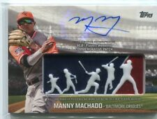 2018 Topps Players Weekend Patch Autographs #PWPAMM Manny Machado Auto 3/5 - NM