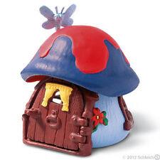 *NEW* SCHLEICH 49013 BLUE SMURF MUSHROOM HOUSE COTTAGE - RETIRED
