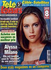 Mag TELE LOISIRS 2000: ALYSSA MILANO_YANNICK NOAH_JEANNIE LONGO