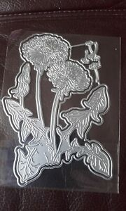 Set of  Dandelion Cutting Dies -works with tattered lace two red robins