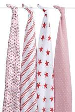 Aden + Anais Red Classic Muslin Swaddle 4-pack Muslin 47x47 Baby Stars Stripes