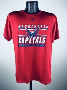 Men's Washington Capitals Majestic Red Defenseman Hockey Performance Shirt NWT S