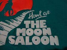 Vintage SALOON BAR Howl At The MOON Wolf Piano Key Cleveland Ohio T Shirt Medium