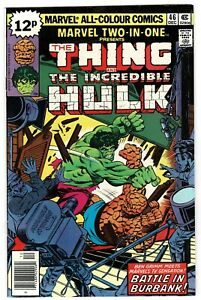 Marvel Two In One Thing Hulk - No 46 - 1978 HIGH GRADE!