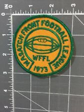 Vintage Wasatch Front Football League WFFL 1973 Patch Youth Little Utah UT