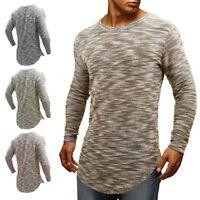 Men's Slim Fit SWAG Hem T Shirt Hipster Hip Hop Male Long Sleeve Sweatshirt Tops