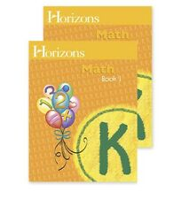Horizons Math Kindergarten Student Books 1 & 2 K workbook homeschool home school