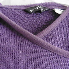 Eddie Bauer Women's Purple Hoodie Asian Wrap Front Long Sleeve, Pockets, M, EUC!