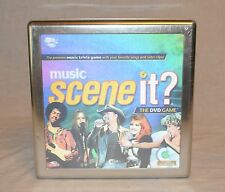 NEW SEALED MUSIC SCENE IT? The DVD Trivia Board Game Collectible Tin Hologram