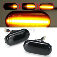 Pair Dynamic LED Side Repeater Indicator Light For Nissan Navara D40 Qashqa