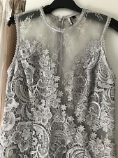 Worn Once Top shop Lace Elegant Dress Gown Size US8 UK12 EURO40