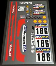 Vintage Rothmans Olympia 186 Reproduction Decal Sheet 1:12