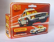 Repro Box Matchbox Speed Kings K 61 Mercedes Police Car