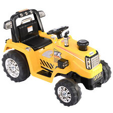 12V Battery Powered Kids Ride On Tractor Electric Toys w/ MP3 LED Lights Yellow