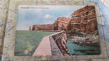 Helgoland Westküste Schutzmauer AK Postkarte 5930
