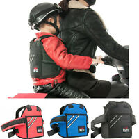 Kids Safety Harness Motorcycle Seat Strap Protective Gear Back Support Belt New