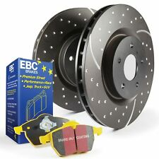EBC Rear GD Sport Brake Discs and Yellowstuff Pads Kit For Ford Fiesta Mk6 ST150