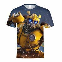 Transformers Bumblebee Movie Kids T-Shirt Short Sleeve Crew Neck Summer Tops