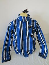 "NIKE FOOTBALL CLUB REAL BRISTOL COAT JACKET BLUE WHITE BLACK M 42"" CHEST NEW"