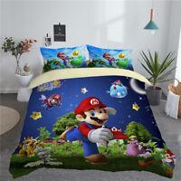 3D Sunshine Super Mario Galaxy Kids Bedding Quilt/Duvet/Doona Cover Pillowcase