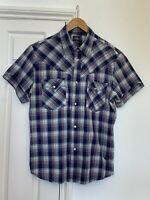 G-STAR Slim Fit Short Sleeve Red Cast Stone Check Shirt Mens Size XL (GS1371)