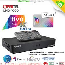 DECODER TIVUSAT OPENTEL DIGITALE 4K UHD 4000 TVS INCLUSA SCHEDA TVSAT ULTRA HD