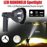 1x LED Projecteur Rechargeable Camping Chasse poche Torche Spotlight Lumière
