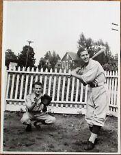 Baseball 1930s Photograph - Batter & Catcher in Uniform - Photo