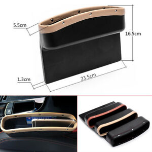 Leather Car Interior Seat Crevice Storage Box Seat Gap Pocket Organizer Catcher