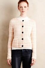 NWT $118.00 Anthropologie Plaid Boucle Cardi by Knitted & Knotted Sz. Large
