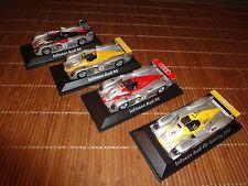 Satz Modellautos 1:43 Minichamps R8, 2002, Le Mans 1, 2, 3 und Sebring 2