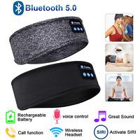 Sleep Headphones Bluetooth 5.0 Headband Wireless Earbuds Sport Run Music Headset