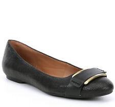 Nib Calvin Klein Oneta Shiny Lizard Black Flats