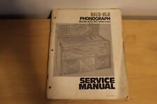 Rockola Phonograph Model 470 160 Selection Service Manual