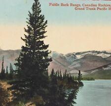 Postcard, Fiddle Back Range Rockies Canada, Vintage P23