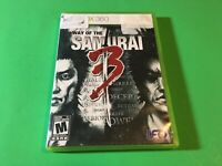 Way of the Samurai 3 (Microsoft Xbox 360, 2009) Complete