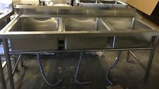 Commercial Catering Kitchen Stainless steel Triple bowl sink 1800mm x 700mm